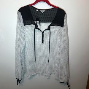 """Guess polka dot """"Portia"""" blouse. NEW WITH TAGS"""